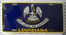 Louisiana State Flag License Plate Aluminum Embossed Sign Metal Car Tag Auto New