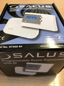 SALUS RT500RF DIGITAL PROGRAMMABLE WIRELESS ROOM THERMOSTAT RF STAT ALTHC014