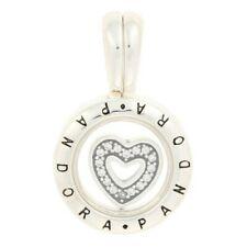 NEW Authentic Pandora Floating Locket Pendant Sterling Silver CZ Heart 792144CZ
