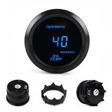 Universal 2'' 52mm Oil Temperature Gauge Blue Digital LED Oil Temp Meter Tinted