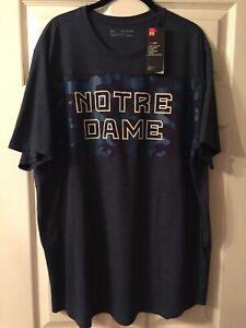 Notre Dame Under Armour Camo Shirt NWT 2XL