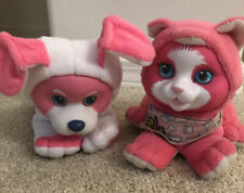 Vintage Pet Surprise Kitty And Puppy Neon Pink And White 1992 Hasbro