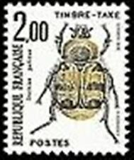 """FRANCE STAMP TIMBRE TAXE N° 107 """" INSECTES , COLEOPTERES 2F"""" NEUF xx TTB"""
