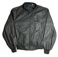 Vintage Members Only Men's Full Zip Cafe Racer Black Jacket Size 42L Bomber