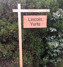 Standing Oak Engraved Hanging Gallows Swinging House or Business Sign 600mm X 300mm