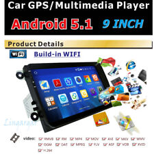 "9"" Android 5.1 Car Radio GPS Stereo 1DIN for VW Passat Golf MK5 Jetta"