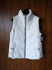 RRP £90 TOMMY HILFIGER GILET PARKA COAT White Bodywarmer Puffer Jacket L / UK 14