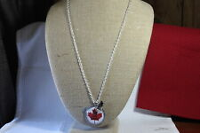 """Plunder Necklace (new) KEEP CALM & LOVE CANADA - SILVER CHAIN 31"""" ADJ (PP1310)"""