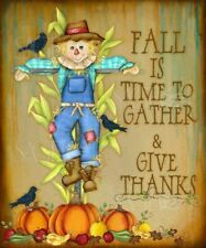Fall Is A Time To Gather and Give Thanks Lisa Keys Art Print 12x16