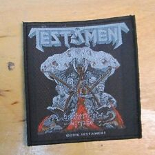 TESTAMENT  PATCH COLLECTABLE RARE 2010 ENGLISH WOVEN  METAL