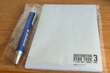 DESTINATION STAR TREK 3 CONVENTION LONDON EXCEL PEN AND NOTE PAD NEW