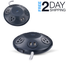 Power Hub Outlet Power Strip with 4 AC Outlets and 4 USB Ports Power Adapter 8ft