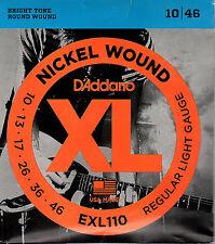 Juego de Cuerdas D'Addario EXL110 Eeléctrica 010-046 LIQUIDACIÓN STOCKS