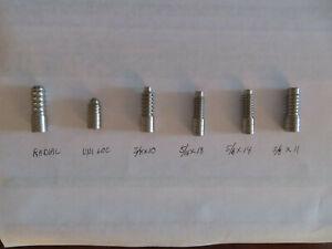 6 PIECE STANDARD Maintenance arbor set for drills or lathe pool cue repairs ....