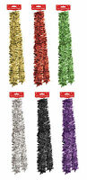 Christmas Xmas Decoration 2M 6.5Ft Tinsel Red Black Silver Green Gold Purple