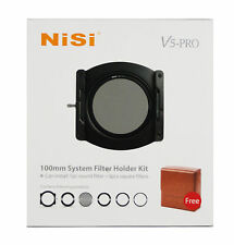 Nisi V5 Adaptor 100mm Pro System Filter Holder + 67,72,77,82mmRing + CPL + Case
