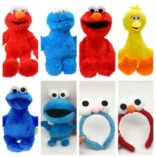 sesame street stuffed plush elmo doll soft dolls hair clasp headband manga gift