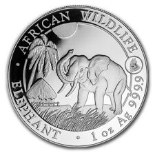Somalia African Wildlife Elephant Rooster Privy 2017 1 oz .999 Silver Coin