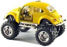 Kinsmart Off Road Monster Wheel 1967 VW Volkswagen Beetle 1:32 Discast Yellow