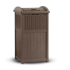 Outdoor Trash Hideaway Garbage Bin Waste Container Can Garden Patio Furniture