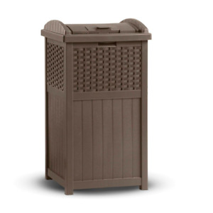 Outdoor Trash Hideaway Garbage Bin Waste Container Can Garden Patio Furniture