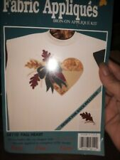 Fabric Appliques Iron On Kit Fall Heart