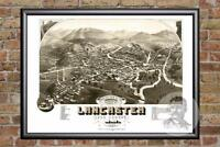 Vintage Lancaster, NH Map 1883 - Historic New Hampshire Art - Old Industrial