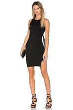FINDERS KEEPERS NWT $160 Nouvel Bodycon Side Tie Black Mini Dress Sz L