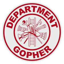 Dept. Gopher Small Round Reflective Emergency Firefighter Novelty Funny Decal