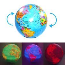 Spinning Magic Revolving Rotating LED Light up World Earth Map Globe Desk Table