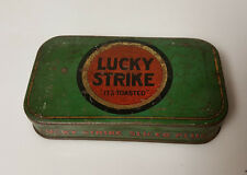 "Vintage Tobacco Tin Lucky Strike Sliced Plug ""Its Toasted"""