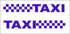 2x Reflectante Taxi & a Cuadros Patrón Pegatina De Vinilo/calcomanías/gráficos Van Car