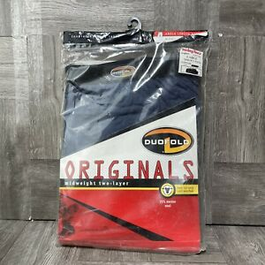 Duofold by Champion Men's Originals Wool-Blend Thermal Pants Blue Size L
