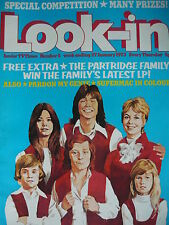 LOOK-IN MAGAZINE 27TH JAN 1973 - THE PARTRIDGE FAMILY - DAVID CASSIDY POSTER