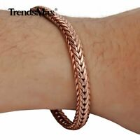 6mm 7-9INCH Braided Foxtail Rose Gold Filled Bracelet Unisex Link Chain Jewelry