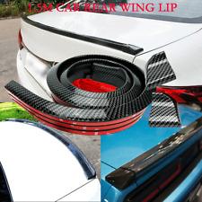 Car Decor Rear Wing Lip Spoiler 3D Carbon Fiber Tail Trunk Roof Trim Sticker EOD