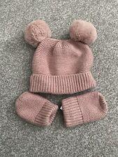 Tu Baby Pink Hat And Mittens Set 0-3 Months