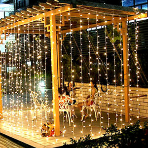 LED Curtain String Lights Christmas Fairy Garland Outdoor for Decoration Party