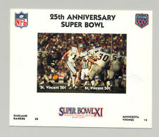 St Vincent #1410 Football Super Bowl XI 1v M/S of 2 Imperf Chromalin Proof