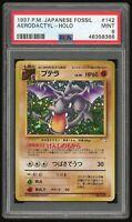 Pokemon PSA 9 Mint Fossil Aerodactyl Holo Rare Japanese #142