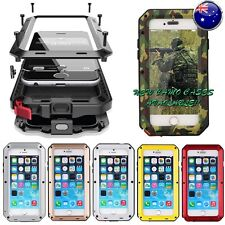 Heavy Duty Shockproof Waterproof Bumper Metal Cover Case iPhone Samsung 5 6 7 8