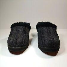Skechers Cali Mule Slip-on Warm Heel Fuzzy Slippers Gray Black Women's 7-7.5