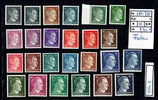 (E1605) DR Nr. 781 - 798** Freimarken A. H. in teils unterschiedlichen Farben!!