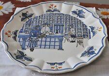 Piatto decorativo Rampini Gubbio ceramica vintage