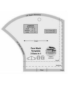Face Mask Template Creative Grids 3 In 1 -  Makes Small Medium & Large Masks