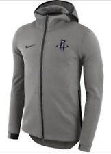 NIKE MENS NBA HOUSTON ROCKETS SHOWTIME FULL ZIP HOODIE Size 3XL Grey/Black
