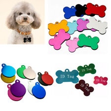 Personalize Dog Tags Engraved Cat Puppy Pet ID Name Collar Tag Bone/Round DIY!!!