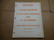 Massey Ferguson No 60 Combine Engines And Accessories Parts Book Manual 659