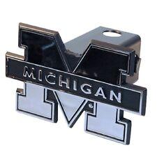 "Michigan Silver Trailer Hitch Cover (NEW) UM Wolverines Car Truck Cap 2"" Chrome"