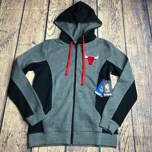 UNK Ultra Game Womens Medium Chicago Bulls Full Zip L/S NBA Logo Jacket New